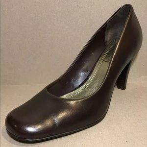 Franco Sarto Women Shoes Sz 8M Brown Leather Heels